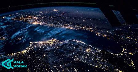 آلودگی-نوری-آسمان-شب